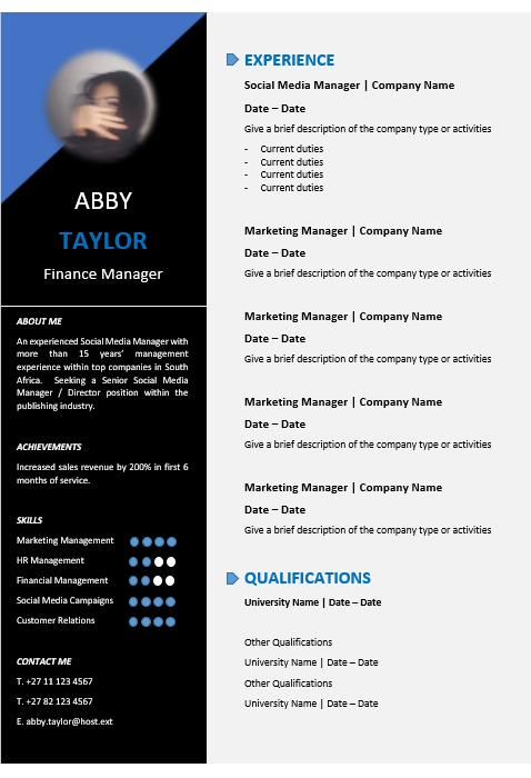 44 Great Modern Curriculum Vitae by Ideas