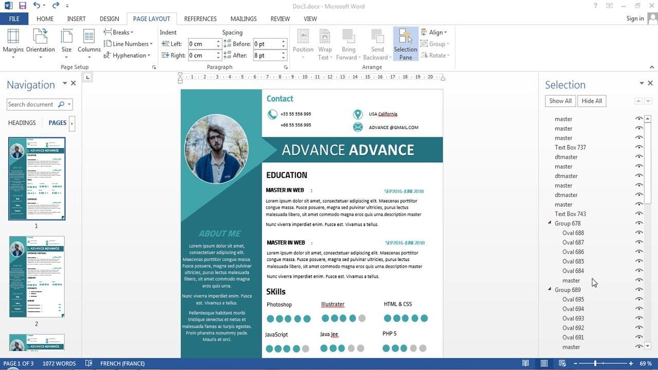 44 Nice Cv Microsoft Word with Pictures