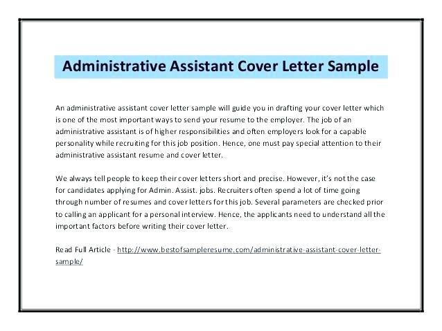 44 Nice Examples Of Resume Cover Letters For Administrative Assistants by Images