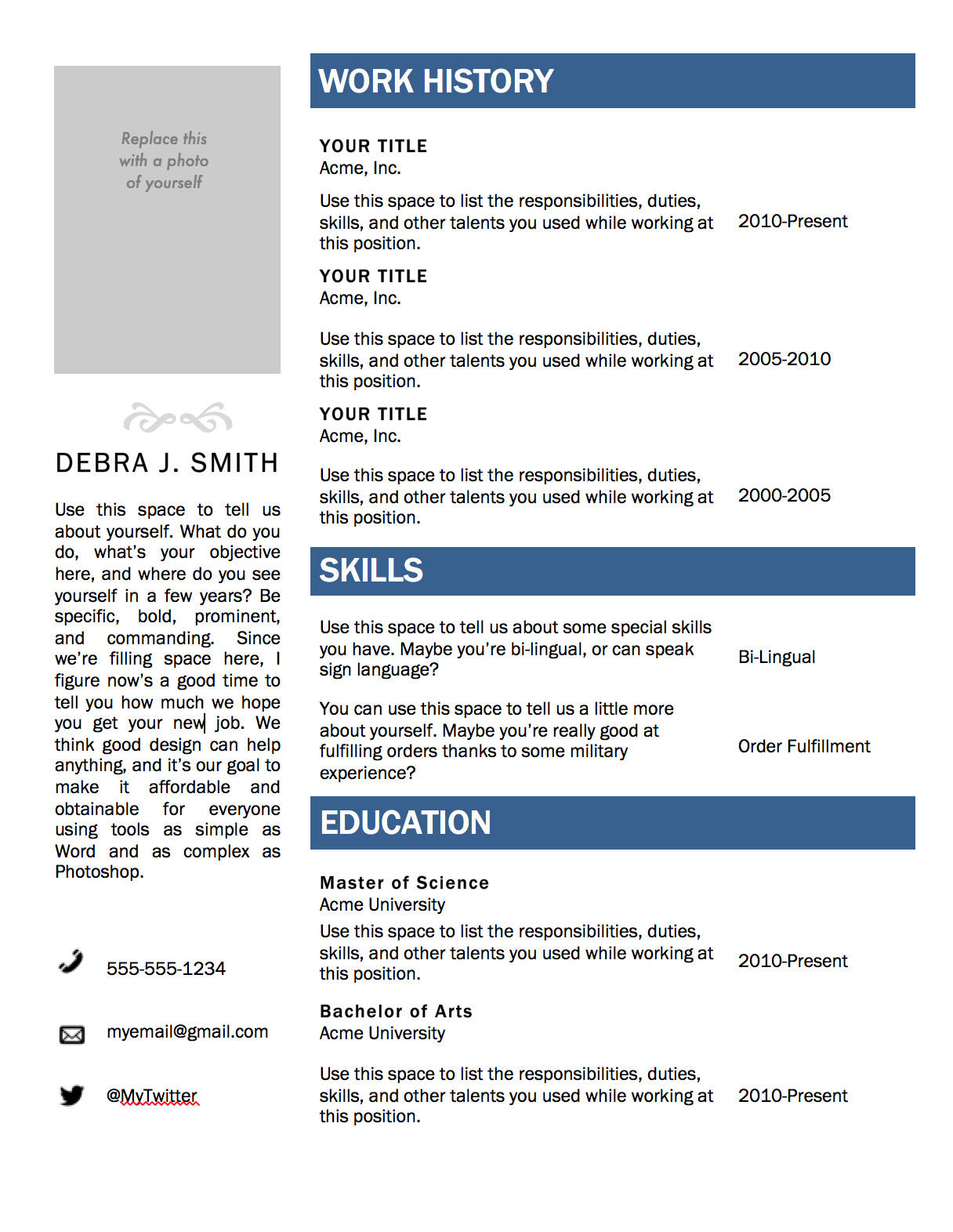 45 Best Free Resume Builder Microsoft Word Download for Graphics