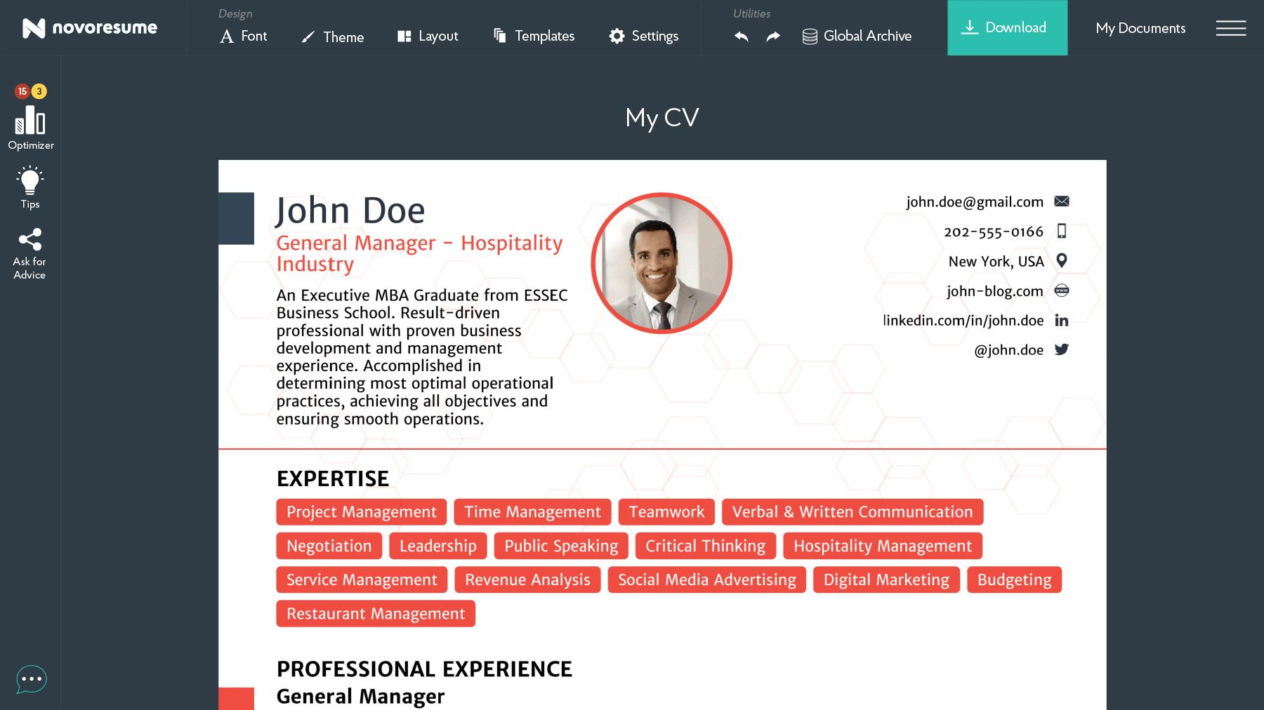 45 Cool Build Professional Cv Online Free by Images
