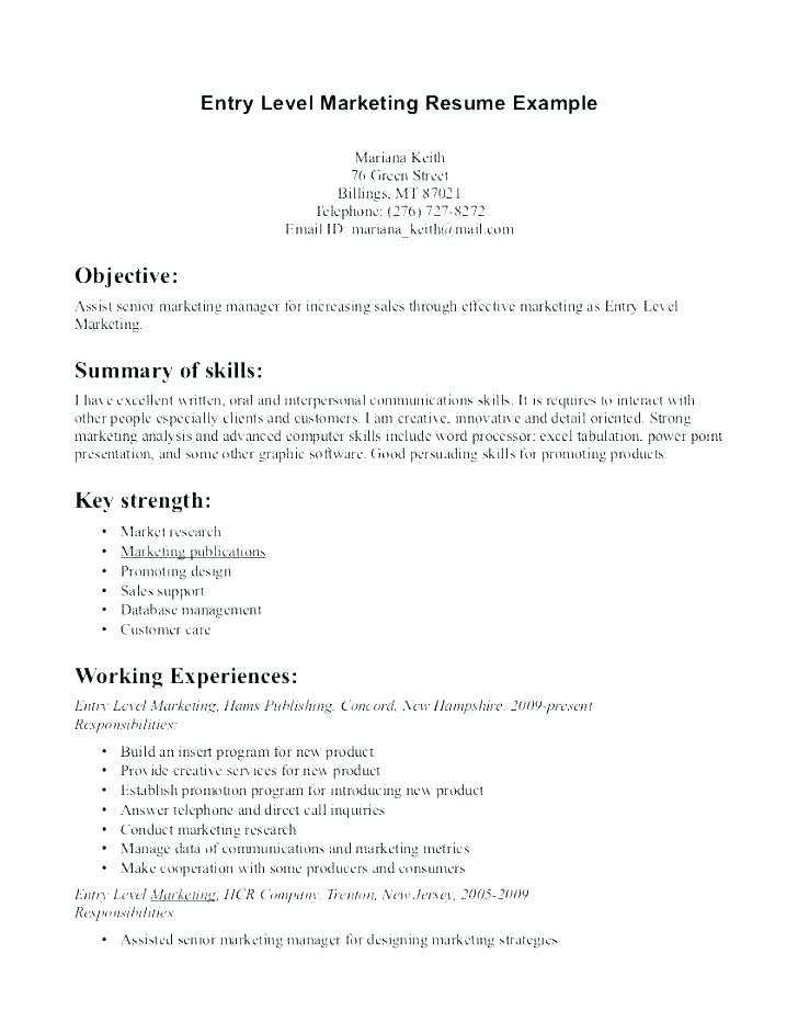45 Cool Entry Level Marketing Resume with Graphics