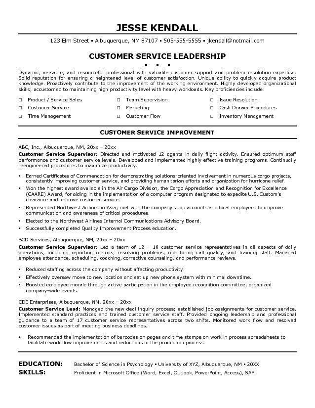 45 Great Customer Service Resume Objective Or Summary Examples by Graphics