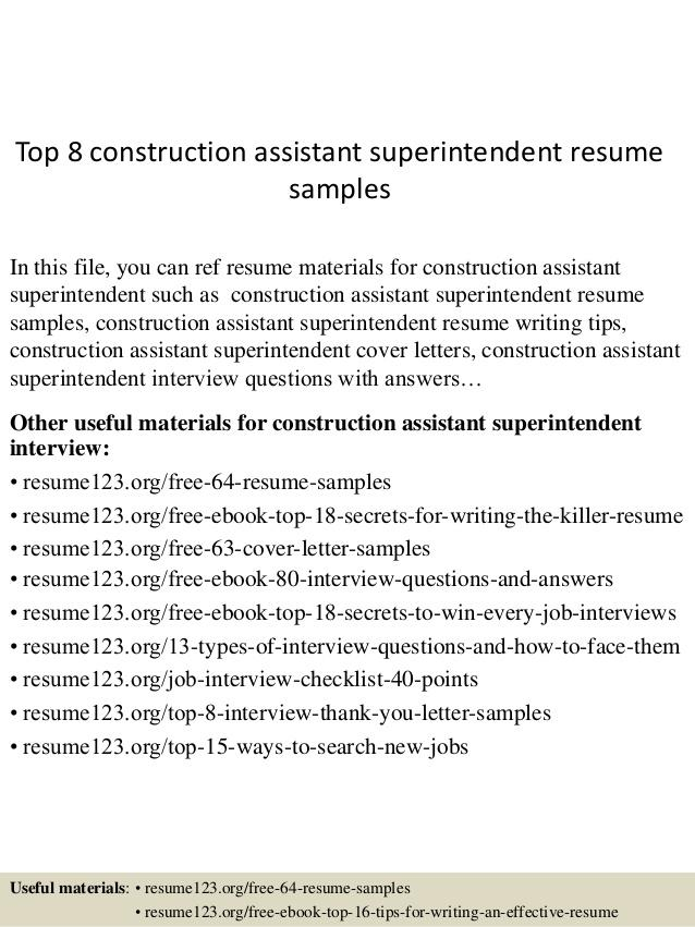 45 Inspirational Construction Superintendent Resume Cover Letter Examples for Pics