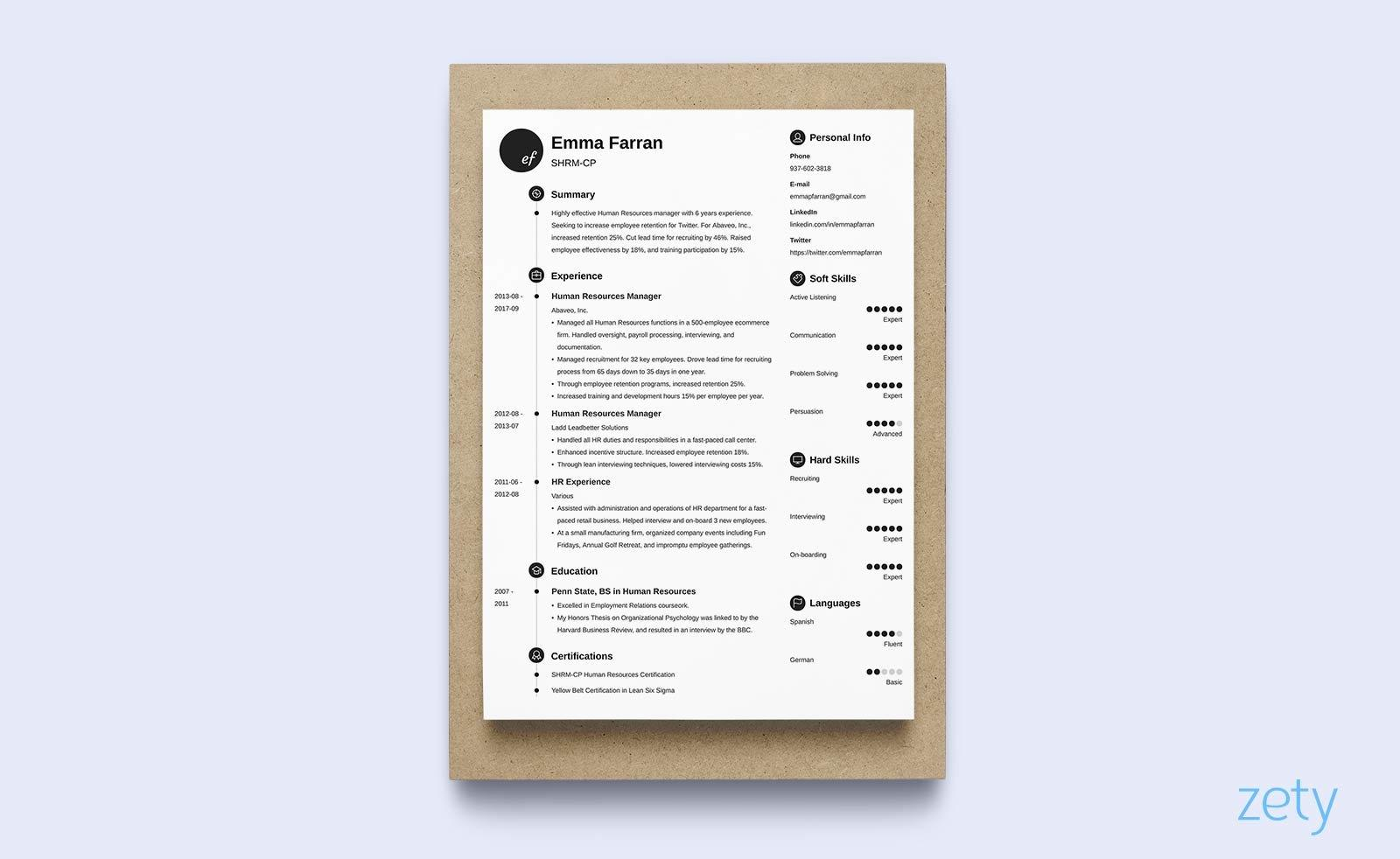 45 New One Page Resume Site by Graphics