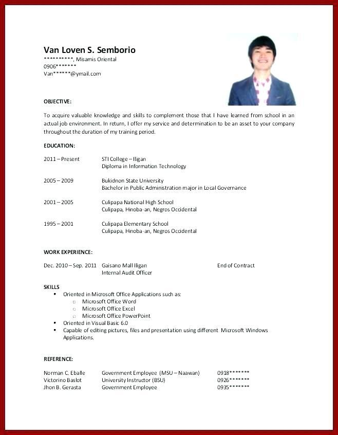 46 Awesome Free Resume Templates For Students With No Experience by Pictures