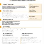 46 Awesome Updated Resume Format for Design