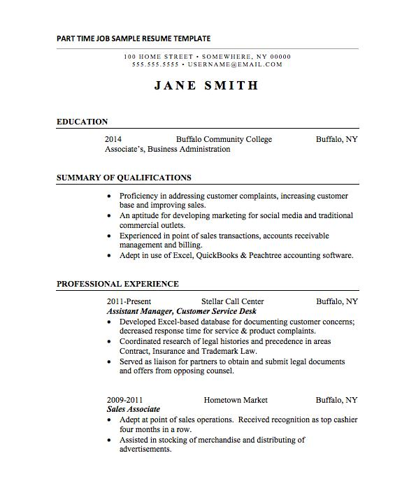 46 Beautiful Basic Resume Format For Job by Graphics
