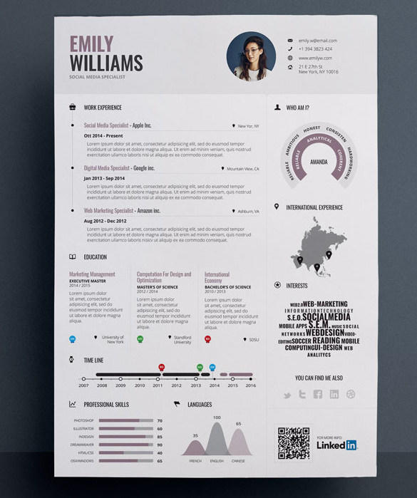 46 Best Graphic Resume Template with Images