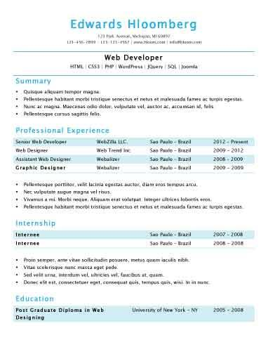 46 Cool Sample Resume Format by Pics