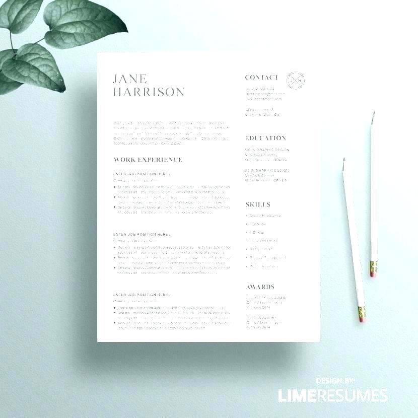 46 Fresh Free Pages Resume Templates by Graphics