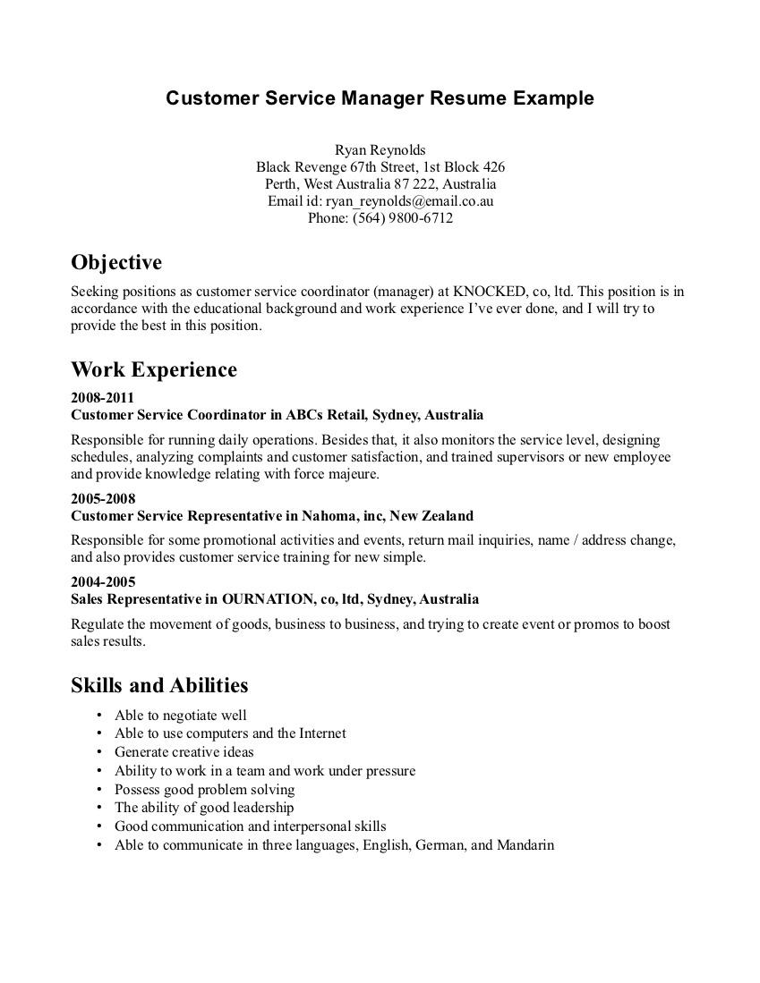 46 Inspirational Customer Service Resume Objective Or Summary Examples with Ideas