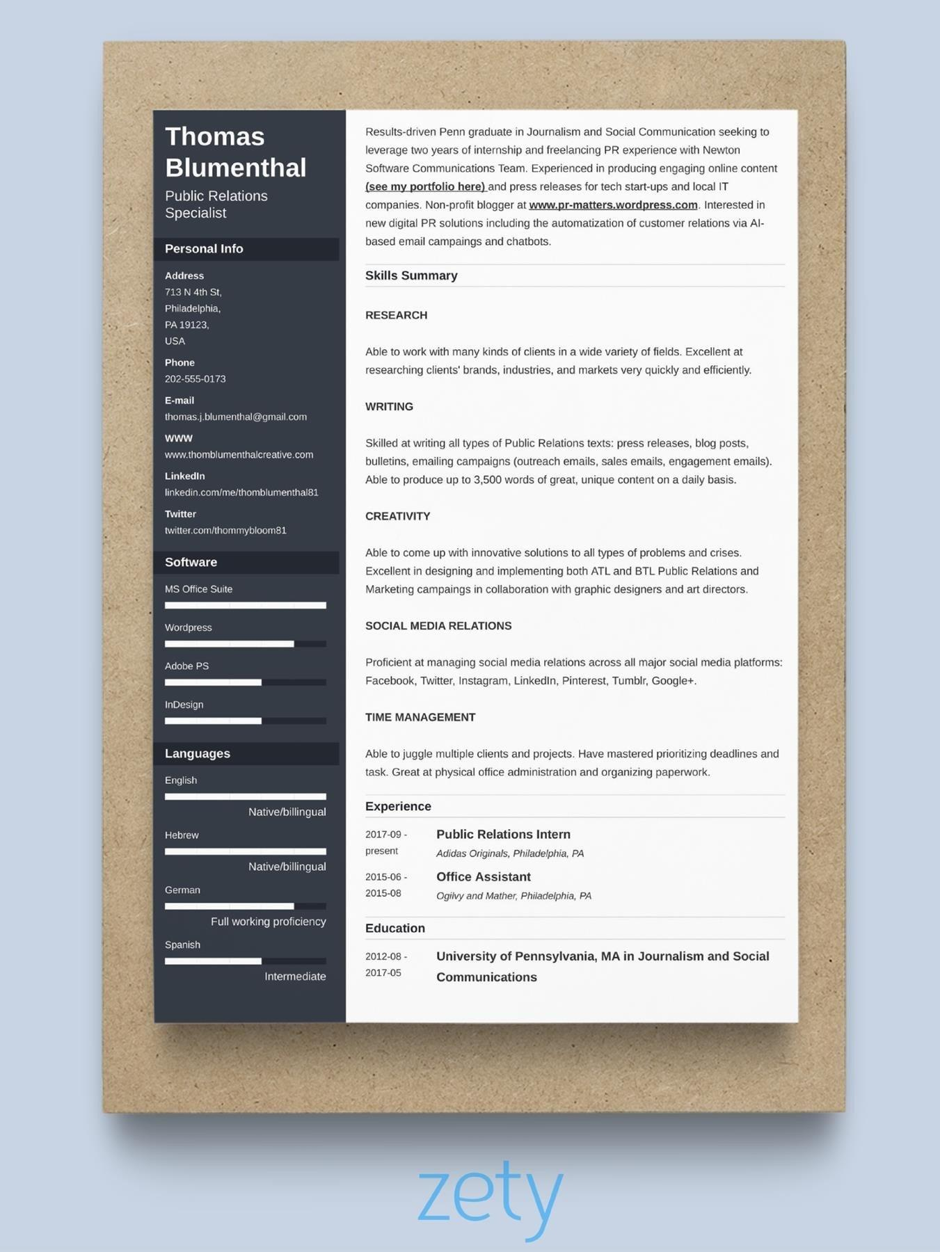 46 Nice Great Resume Formats with Graphics