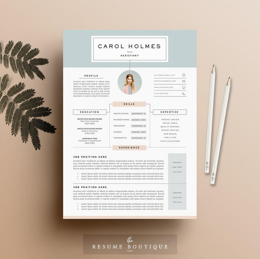 46 Stunning Great Looking Resume Templates by Pictures