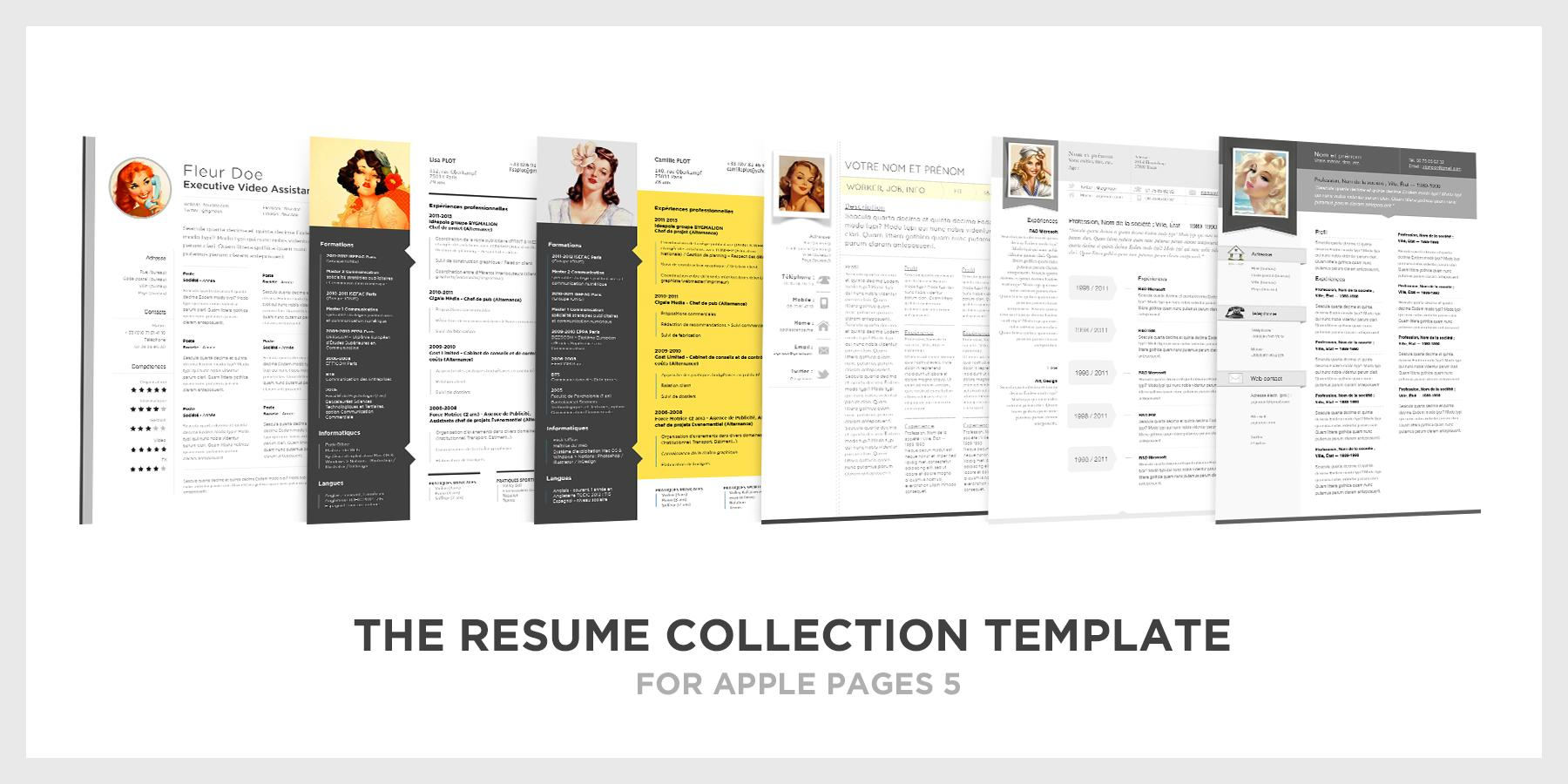 47 Awesome Free Resume Templates For Mac with Design