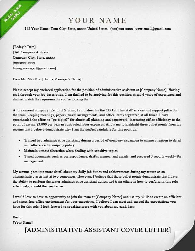 47 Beautiful Administration Cover Letter Sample for Graphics