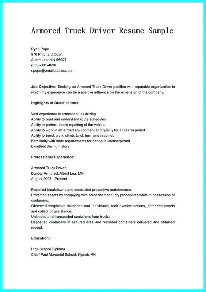 47 Cool Delivery Driver Resume Sample Doc With Pics At