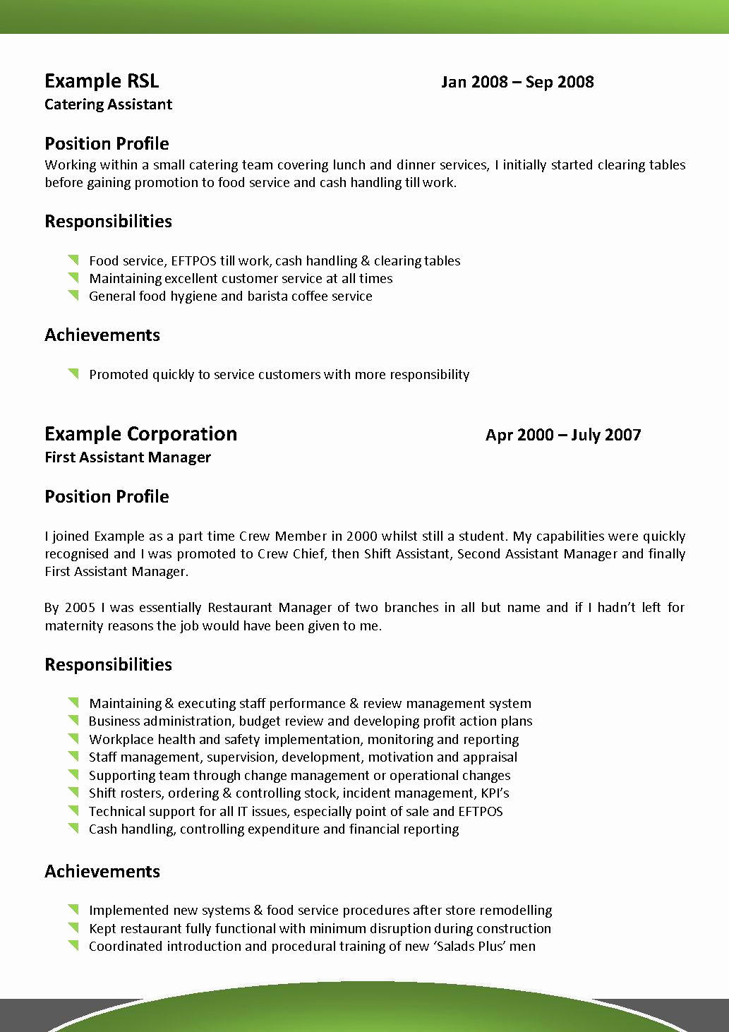 47 Cool Perfect Cv Format with Images
