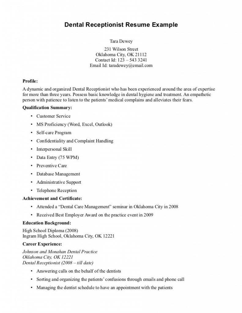 47 Excellent Medical Front Desk Resume with Gallery