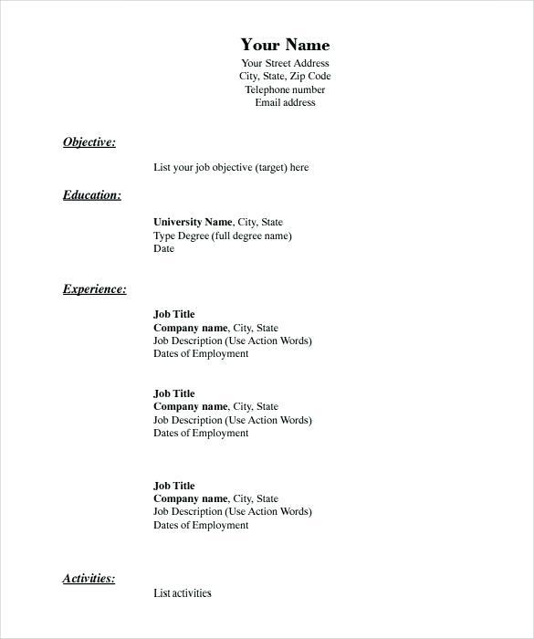 47 Excellent Resume Format Examples with Design