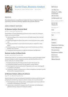 47 Great Business Analyst Resume Examples 2018 by Graphics