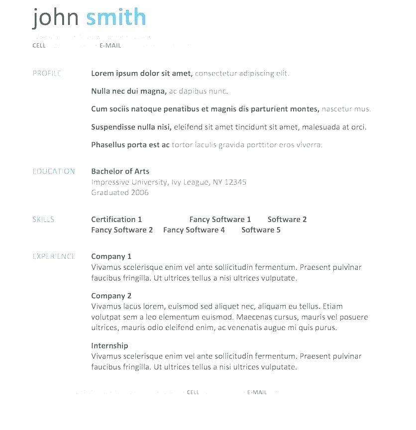 47 Stunning Free Resume Templates For Mac by Pictures