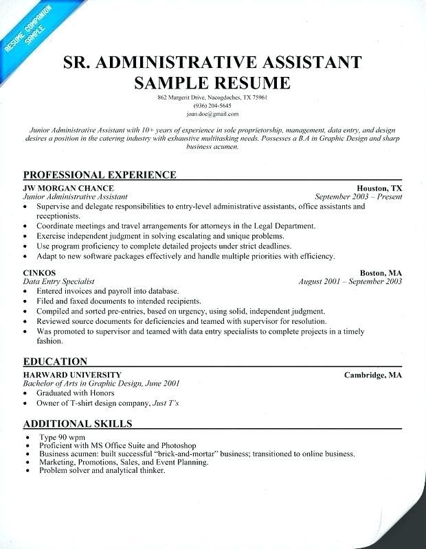 47 Top Administrative Assistant Resume Examples 2018 for Ideas