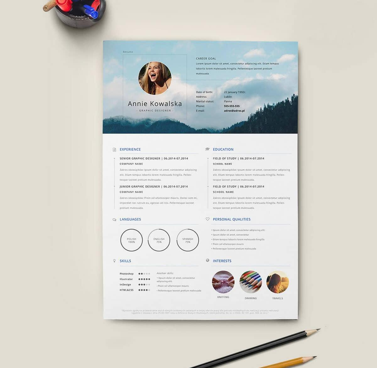 48 Beautiful Cv Template Gratis with Pictures