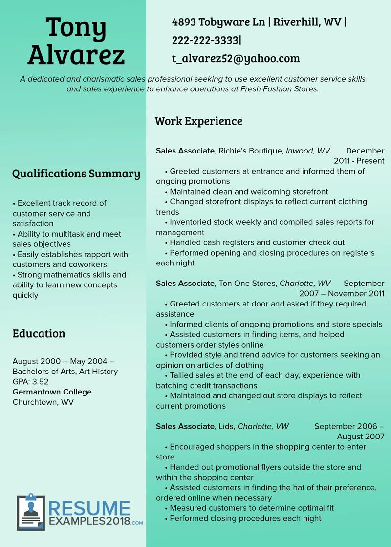 49 Awesome Best Sales Resume Examples 2018 for Design