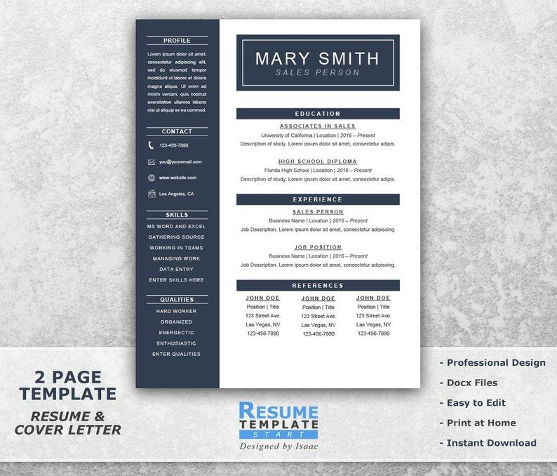 49 Fresh One Page Resume Template Word with Pics