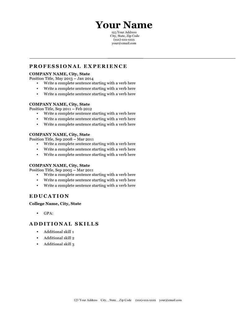 50 Cool How To Make A Resume Template for Gallery