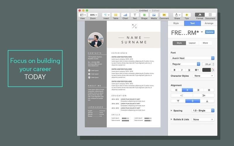 50 Inspirational Free Resume Templates For Mac by Pictures