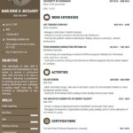 50 Inspirational One Page Cv Template by Graphics