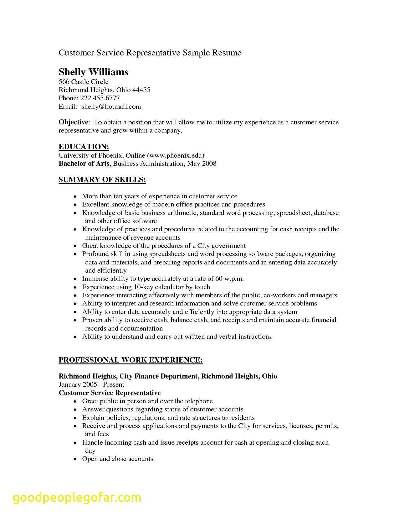 51 Awesome Customer Service Resume Objective Or Summary Examples by Gallery