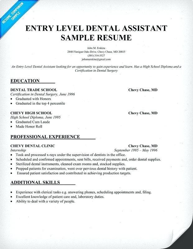 Dentist Resume Sample Doc