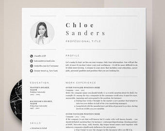 51 Inspirational Modern Professional Resume with Pics