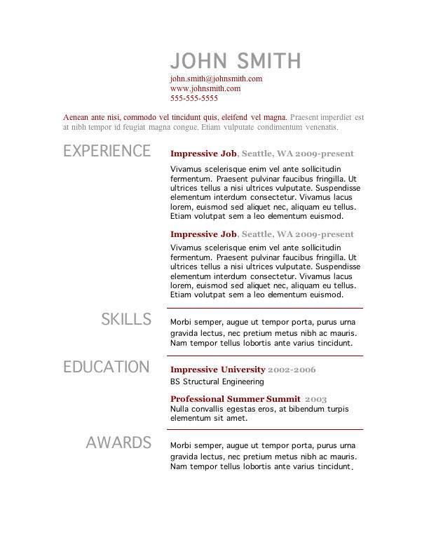 51 New Actually Free Resume Templates with Gallery