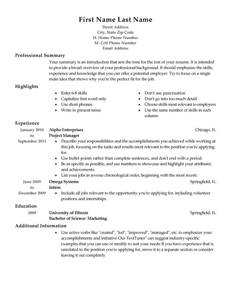 51 Top Whats The Best Resume Format To Use with Gallery