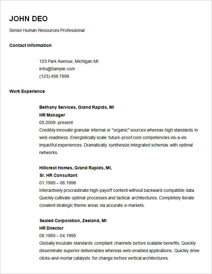 52 Great Easy Resume Examples with Pics
