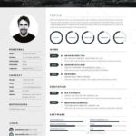 52 Inspirational Best Looking Resume Templates by Images