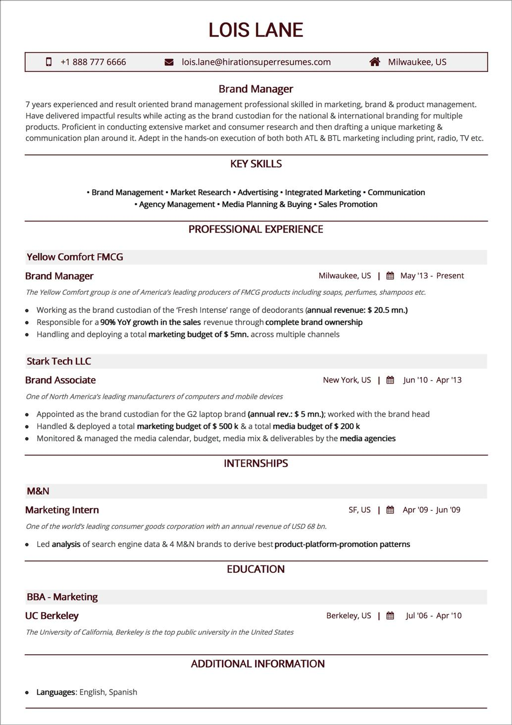 52 Inspirational Good Resume Layout by Pictures