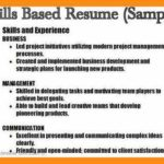 52 Top Examples Of Skills Based Resume for Ideas