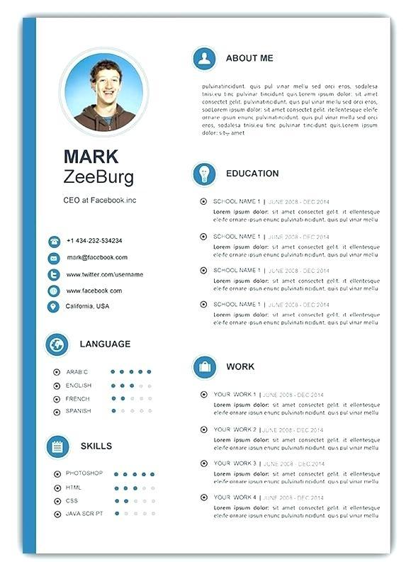 53 Awesome Resume Template Word Doc Free for Gallery