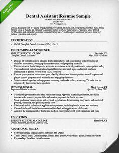 53 Beautiful Dental Assistant Resume Skills Examples with Pictures