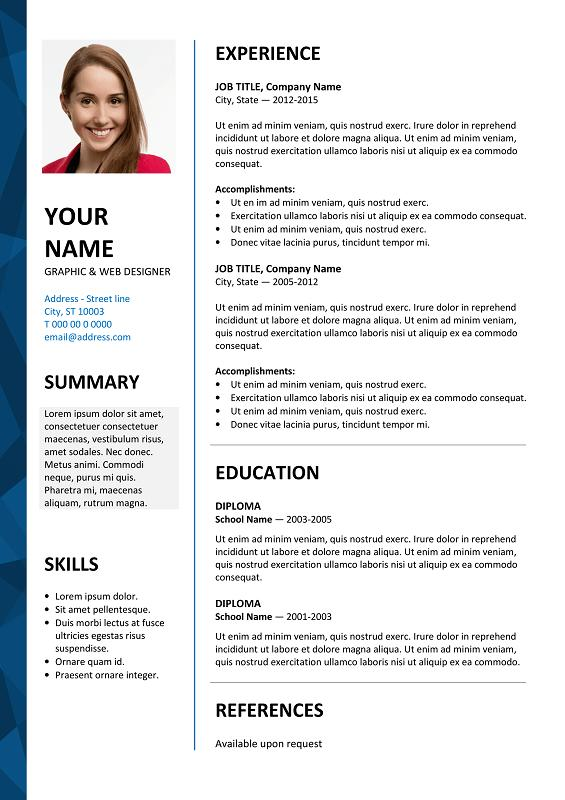 53 Inspirational Free Cv Template Download with Images