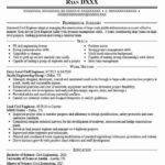 54 Fresh Civil Engineer Resume for Design