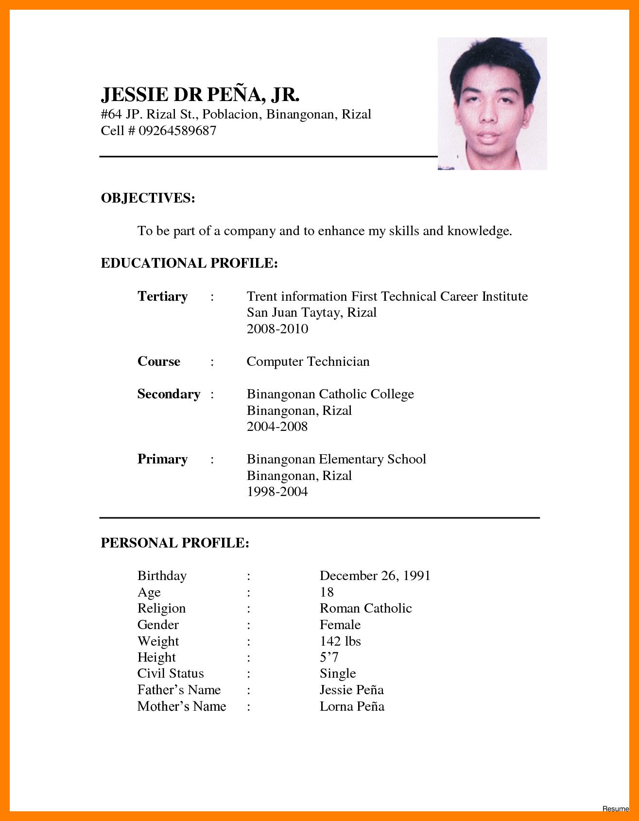55 Beautiful Curriculum Vitae Format Word by Graphics