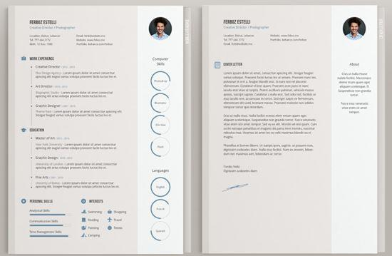 55 Cool The Best Free Resume Templates by Pics