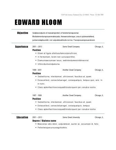 55 Inspirational Easy Resume Examples with Ideas