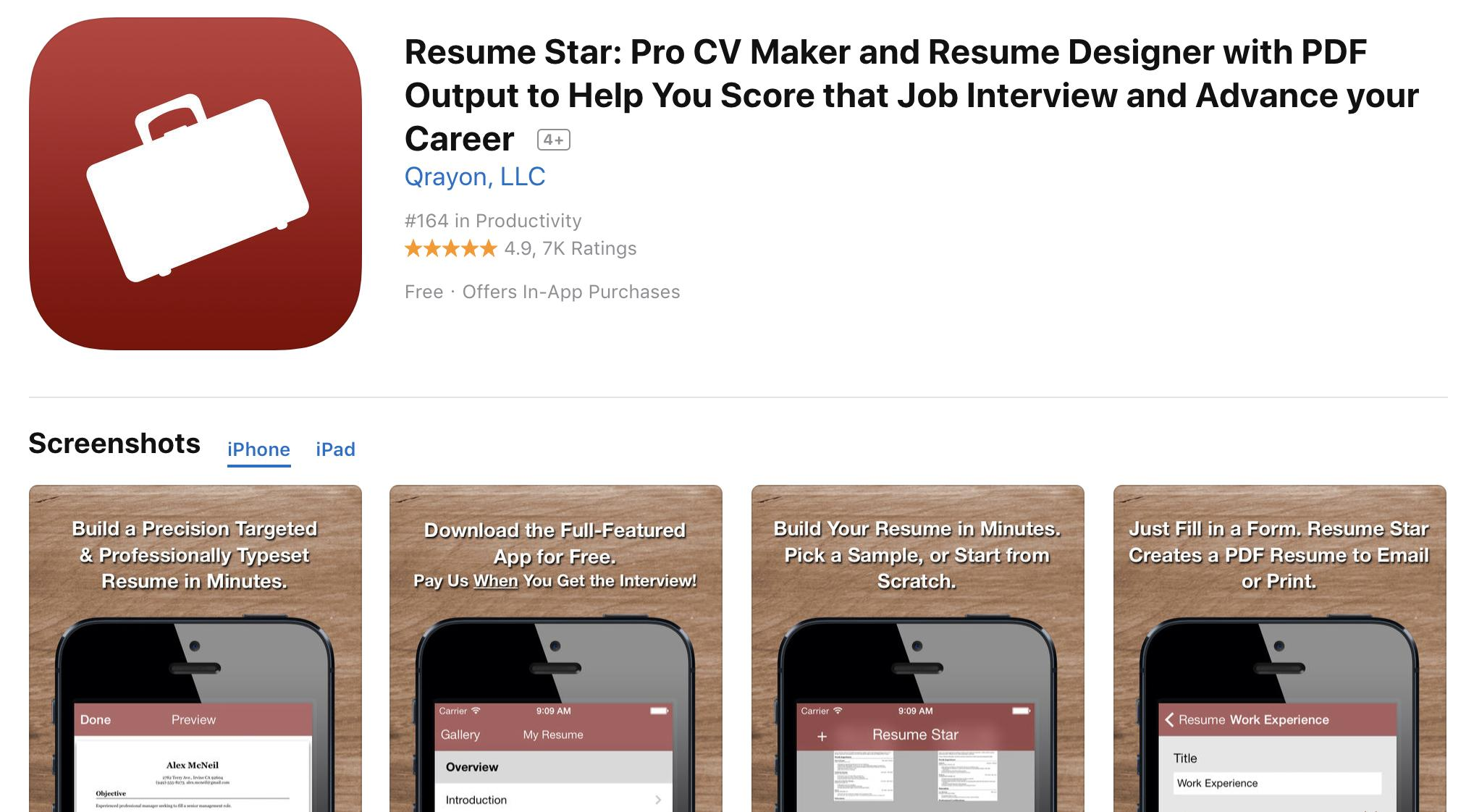 55 Nice Best Resume Builder App with Ideas